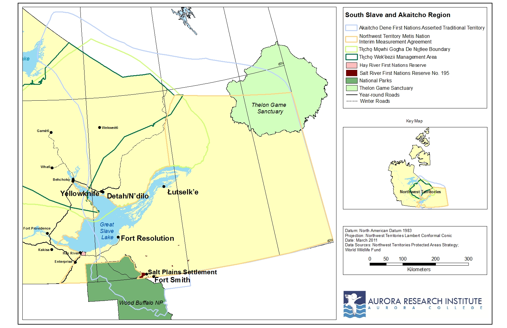 Maps of the NWT